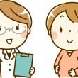 妊婦とドクターの画像
