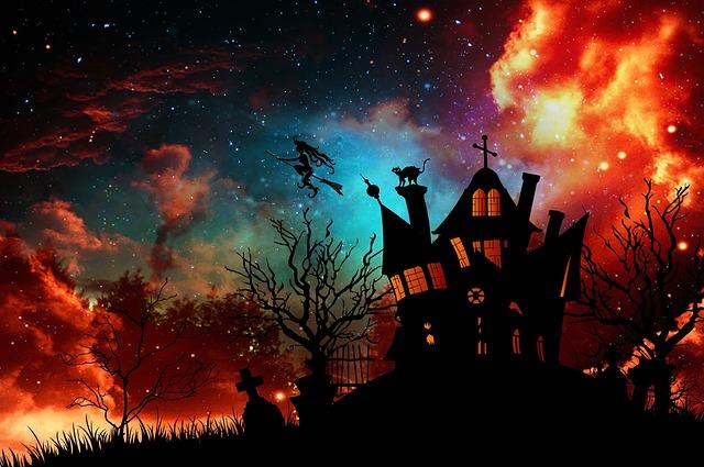 ハロウィン魔女の館の画像