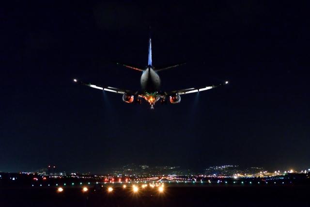 大阪空港の夜景の画像