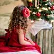 クリスマスの女の子の画像