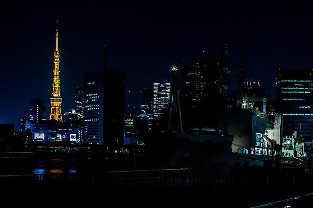 東京タワーの夜景の画像