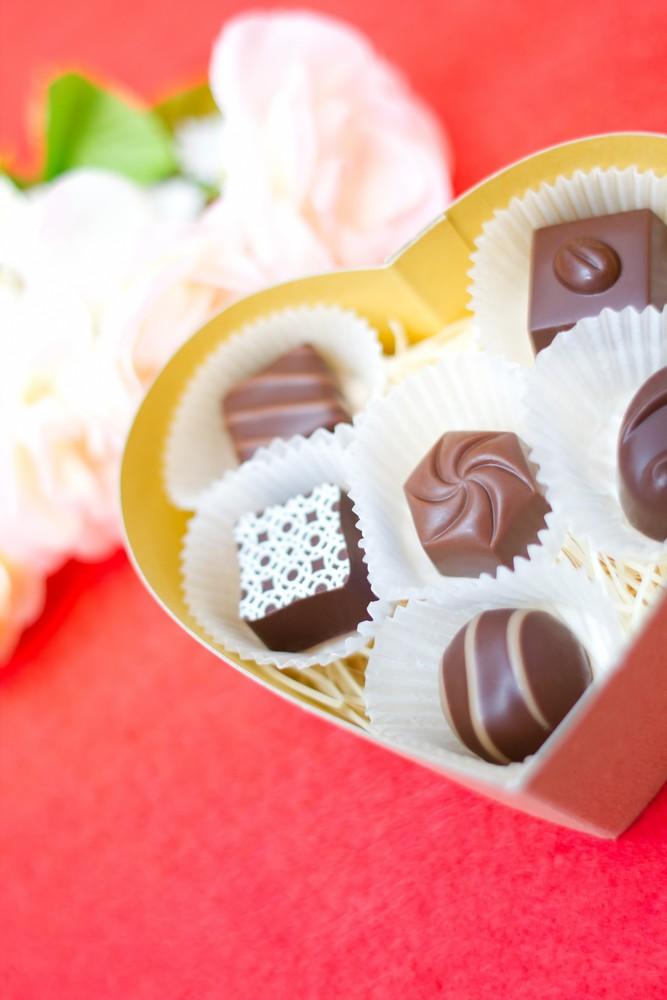 ハートボックスチョコレートの画像