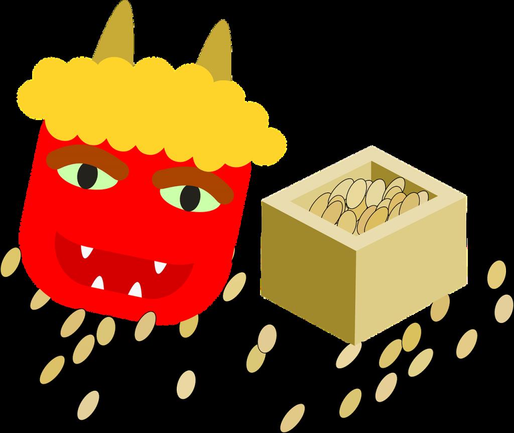 豆まきのイラスト