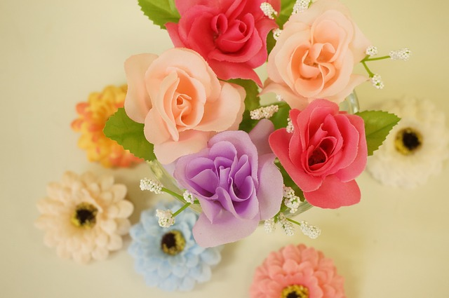 髪飾り用の花の画像