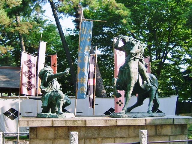 信玄公の像の画像