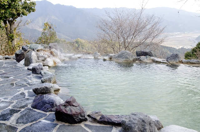 露天風呂の画像