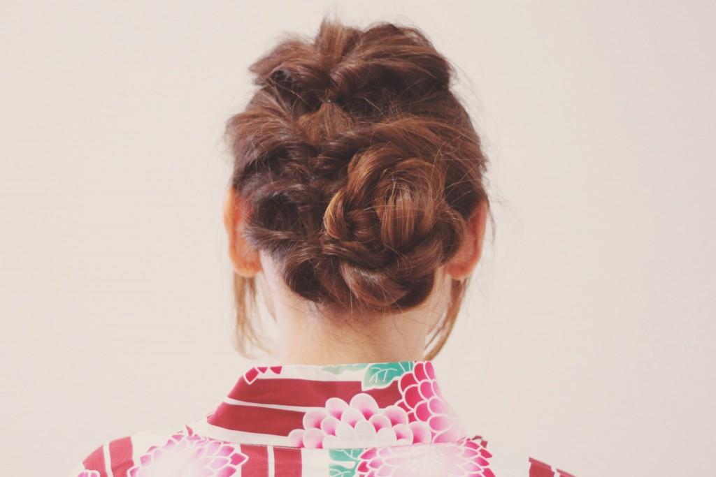 浴衣に合う髪型の画像