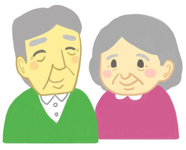 おじいさんおばあさんの画像