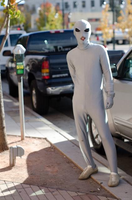 宇宙人の仮装の画像