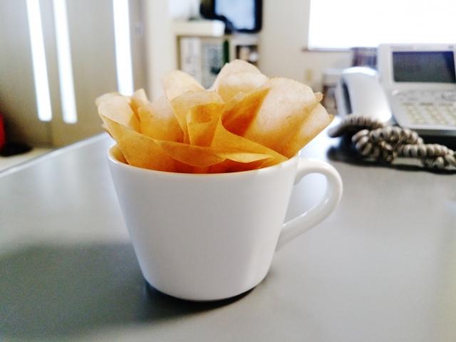 コーヒーフィルターの画像