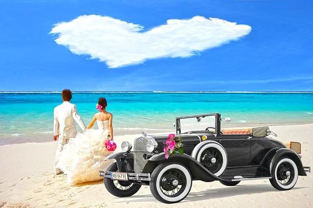 新婚旅行の画像