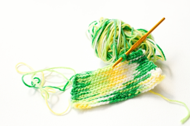 毛糸のマフラーの画像
